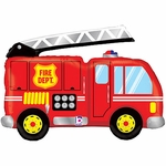 Fire Truck Shape Balloon