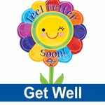 Get Well Shape Balloons