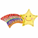 Get Well Shooting Star Shape Balloon