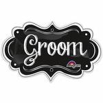 Groom Chalkboard Marquee Shape Balloon