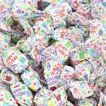 Happy Birthday Wrapper Strawberry Flavored Hard Candy