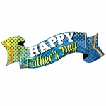 Happy Father's Day Banner Helium Shape Balloon