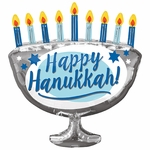 Happy Hanukkah Menorah Shape Balloon