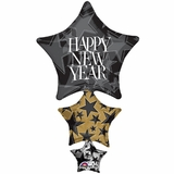 Happy New Year Stacker Shape Balloon