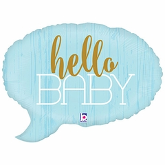 Hello Baby Boy Shape Balloon