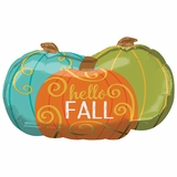 Hello Fall Pumpkins Shape Balloon