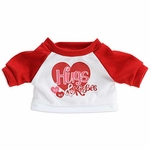 Plush T-Shirt: Hugs & Kisses