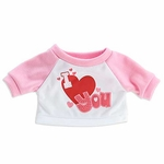 Plush T-Shirt: I Heart You