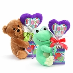 I Love You  Bear Plush Pick Gift