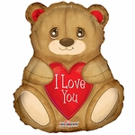I Love You Bear Shape Balloon
