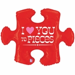 I Love You To Pieces Puzzle Shape Balloon