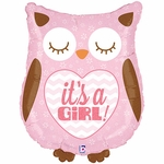 It's a Girl Owl Shape Balloon