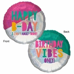 Jumbo Young & Fabulous Birthday Balloon