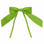 Large Satin Tie Bow-Green