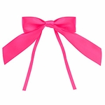 Large Satin Tie Bow-Hot Pink