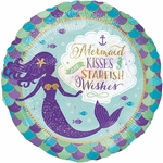 Mermaid Wishes & Kisses Helium Saver Balloon