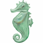 Mermaid Wishes Seahorse Shape Balloon