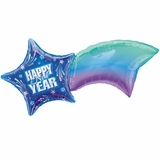 New Year Shooting Star Shape Balloon