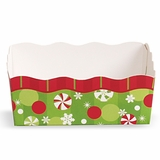 Paper Candy Tray: Peppermint & Snowflakes