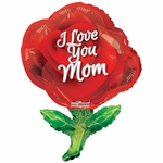 PR Mother's Day Red Rose Shape Balloon
