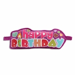 Purple Birthday Puffy Banner