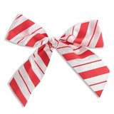 """5.25"""" Red Candy Stripe Bow"""