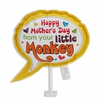 "6"" Speech Bubble Plush Pick: Little Monkey"