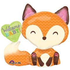 Welcome Baby Fox Shape Balloon