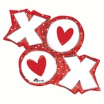 XO Dots Helium Shape Balloon