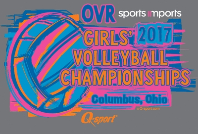 2017 OVR Girls' Volleyball Championship Graphite Heather Hooded Sweatshirt