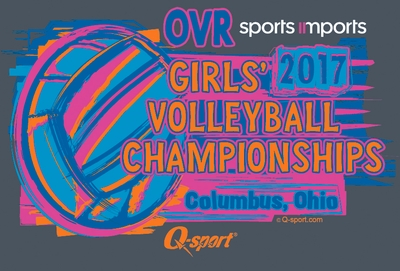 2017 OVR Girls' Volleyball Championship Long Sleeve Heather Navy Shirt