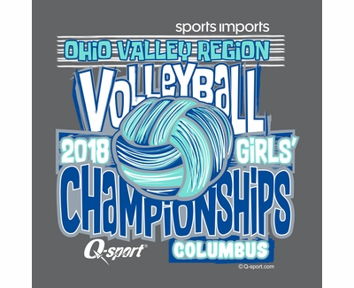 2018 OVR Girls' Volleyball Championship Dark Heather Hooded Sweatshirt