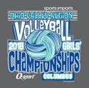 2018 OVR Girls' Volleyball Championship Long Sleeve Dark Heather Grey Shirt