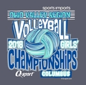 2018 OVR Girls' Volleyball Championship Short Sleeve Navy Heather T-Shirt