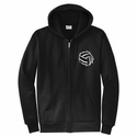 Abstract Volleyball Design Zip-Up Hoodie - in 4 Hoodie Colors