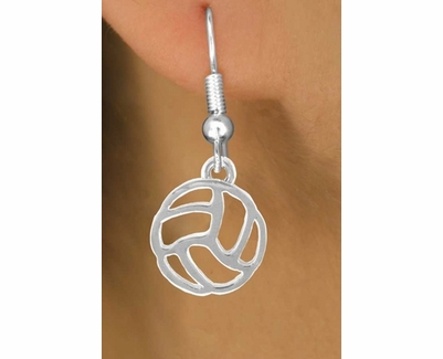 Abstract Volleyball Fishhook Earrings