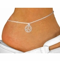 Abstract Volleyball Silver Charm Anklet