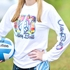 Airbrush Volley Ball Design Long Sleeve White Volleyball Shirt