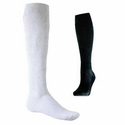 Athletic Cotton Knee High Socks - in White or Black