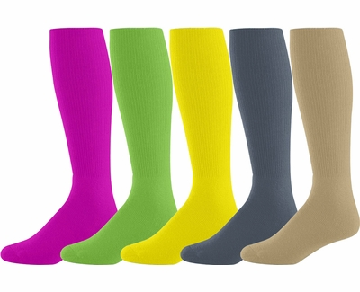 Athletic Knee High Tube Socks - 4 Color Options