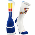 Autism Awareness Puzzle Ribbon Performance Crew Socks