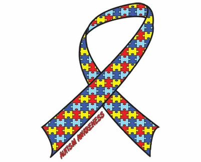 Autism Awareness Ribbon T-Shirt - in 22 Shirt Colors