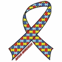 Autism Awareness Ribbon T-Shirt - in 27 Shirt Colors