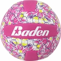 Baden Pink & Yellow Hawaiian Flower Mini Volleyball