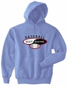Baseball Got Game Design Hooded Sweatshirt - in 20 Hoodie Colors