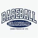 Baseball Grandma, Proud Of It Design Long Sleeve Shirt - in 20 Shirt Colors