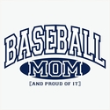 Baseball Mom / Grandma, Proud Of It Hooded Sweatshirt - in 20 Hoodie Colors
