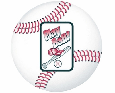 Baseball Play Ball Photo Frame Magnet