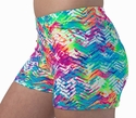 Neon Beach Tracks Chevron Spandex Shorts