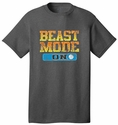 Beast Mode Volleyball Design Dark Grey T-Shirt